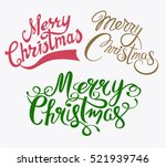 merry christmas set hand drawn... | Shutterstock .eps vector #521939746