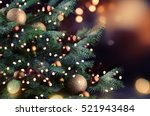 christmas tree  | Shutterstock . vector #521943484