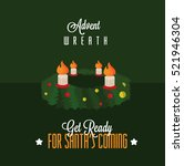 advent wreath with four candles | Shutterstock .eps vector #521946304