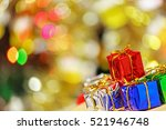 colorful christmas gifts  in... | Shutterstock . vector #521946748