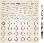 vintage decor elements and... | Shutterstock .eps vector #521947744