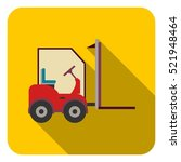 forklift icon in flat style... | Shutterstock . vector #521948464