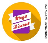 mega discount icon in flat... | Shutterstock . vector #521949490
