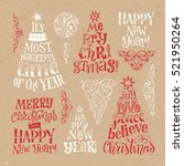 vector set of holidays... | Shutterstock .eps vector #521950264