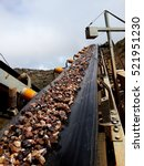 conveyor belt on mining industry | Shutterstock . vector #521951230