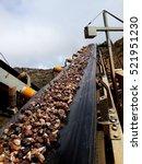conveyor belt on mining industry | Shutterstock . vector #521951230