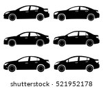 car icon. small sedan. set | Shutterstock .eps vector #521952178