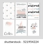 hand drawn vector abstract... | Shutterstock .eps vector #521954224