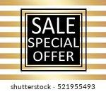 striped golden vintage pattern... | Shutterstock .eps vector #521955493