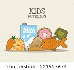 healthy food. kids nutrition... | Shutterstock .eps vector #521957674