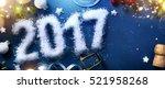 art 2017 happy new years eve ... | Shutterstock . vector #521958268