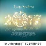 vector 2017 happy new year... | Shutterstock .eps vector #521958499