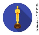 Academy Award Icon In Flat...