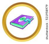 magic book vector icon in... | Shutterstock .eps vector #521958979
