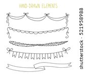 handdrawn vector elements ... | Shutterstock .eps vector #521958988