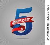 five years anniversary... | Shutterstock .eps vector #521967073
