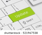 the word update written on a... | Shutterstock . vector #521967538