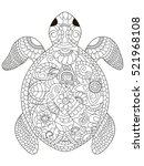 sea turtle coloring book for... | Shutterstock .eps vector #521968108