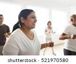 diversity people exercise class ... | Shutterstock . vector #521970580