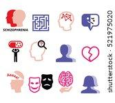 schizophrenia  mental health ... | Shutterstock .eps vector #521975020
