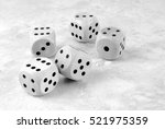 closeup of the dices white | Shutterstock . vector #521975359