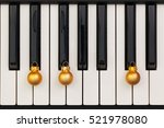 top view close up shot of piano ... | Shutterstock . vector #521978080