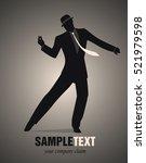 elegant man silhouette dancing... | Shutterstock .eps vector #521979598