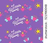 little princess pattern vector. ... | Shutterstock .eps vector #521980048