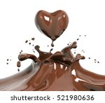 splash chocolate isolated 3d... | Shutterstock . vector #521980636