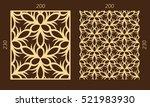laser cutting set. woodcut... | Shutterstock .eps vector #521983930