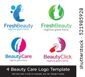 beauty care logo template... | Shutterstock .eps vector #521985928