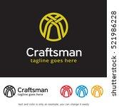 abstract craft logo template... | Shutterstock .eps vector #521986228