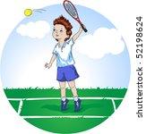 boy playing tennis | Shutterstock .eps vector #52198624