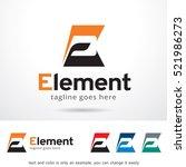 letter e logo template design... | Shutterstock .eps vector #521986273