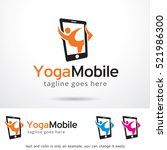 yoga mobile logo template... | Shutterstock .eps vector #521986300