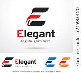 letter e elegant logo template... | Shutterstock .eps vector #521986450