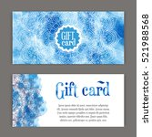 template gift cards ornament... | Shutterstock .eps vector #521988568