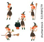 vector set of cartoon images of ... | Shutterstock .eps vector #521989279