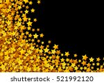 golden stars glitter scattered... | Shutterstock .eps vector #521992120
