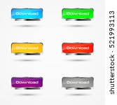set of colored download buttons ... | Shutterstock .eps vector #521993113