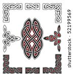 set of celtic design elements | Shutterstock .eps vector #52199569