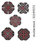set of celtic design elements | Shutterstock .eps vector #52199572