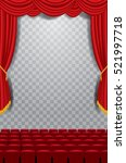 vector transparent empty stage... | Shutterstock .eps vector #521997718