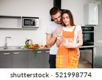 cooking in kitchen couple | Shutterstock . vector #521998774