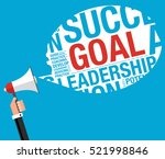 business goal concept with... | Shutterstock .eps vector #521998846