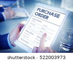purchase order online form deal ... | Shutterstock . vector #522003973