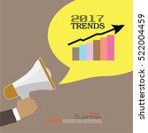 2017 trends.hand with megaphone ...   Shutterstock .eps vector #522004459