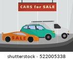 cars in flat style.van sport... | Shutterstock .eps vector #522005338