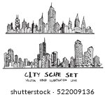 doodle of cityscape vector... | Shutterstock .eps vector #522009136