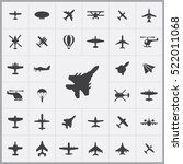 fight jet icon. aviation icons... | Shutterstock .eps vector #522011068
